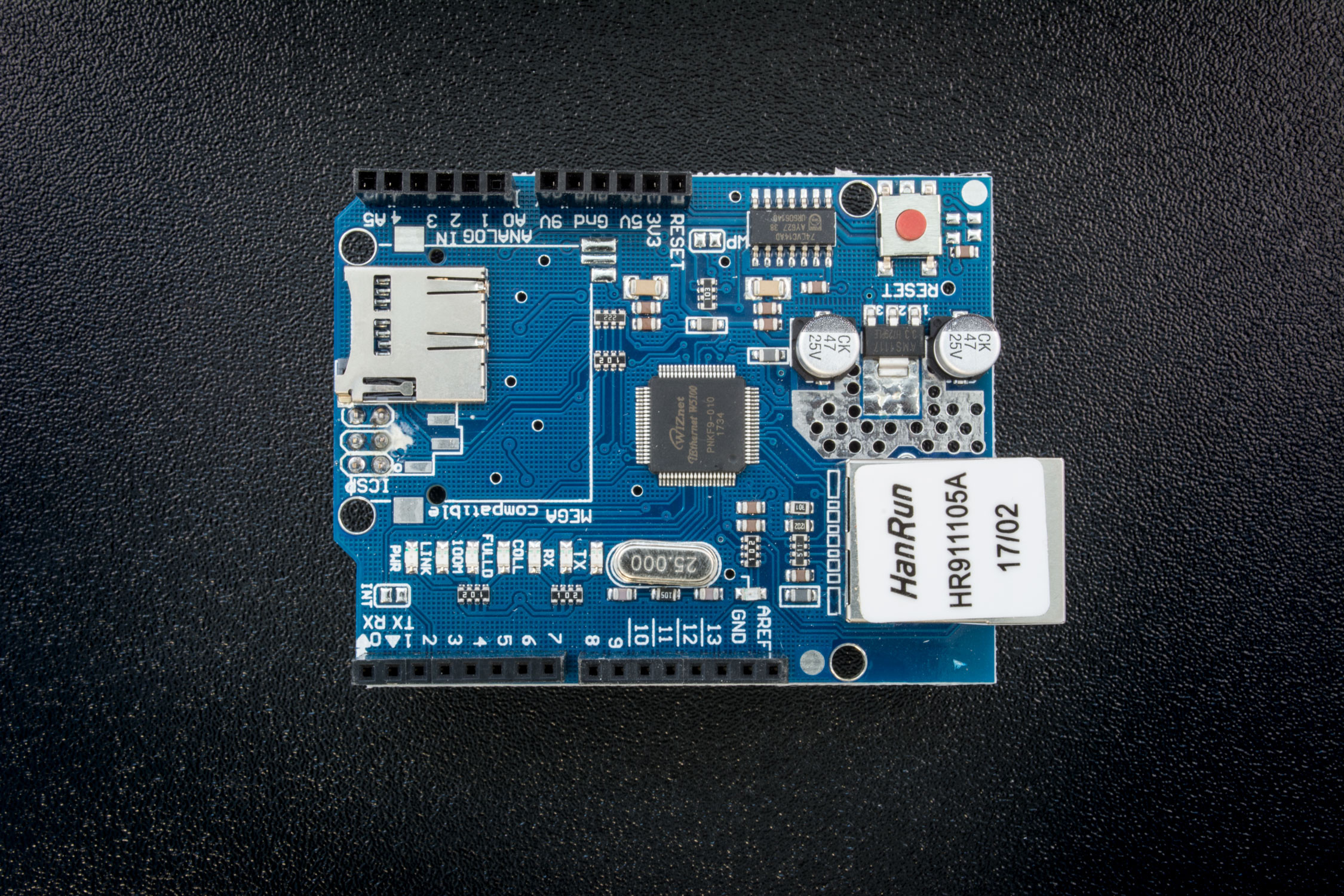 Arduino ethernet shield with W5100