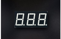 3x LED 7-segment display, common cathode