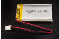 Li-ion battery 900mAh 3.7V with JST connector