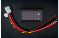 Panel digital voltmeter + ammeter