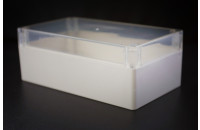 Waterproof plastic box with transparent cover 85x58x33mm