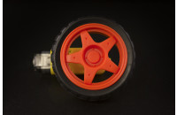 Red wheel and motor for robotic projects