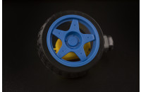 Blue wheel and motor for robotic projects