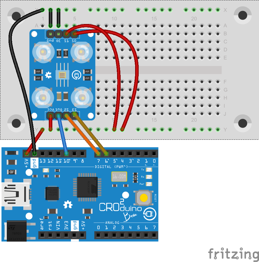 TCS230 on arduino